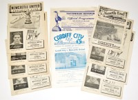 Lot 53 - Newcastle United 1952-53 Season Fixture...