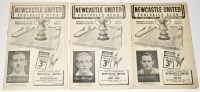 Lot 55 - Three Newcastle United Friendly Fixture...
