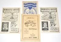Lot 56 - Newcastle United 1952-53 Season Fixture...