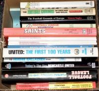 Lot 61 - A box of mainly hardback books of football...