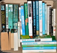 Lot 66 - A box of hard and paperback books, mainly...