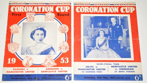 Lot 67-Two Official souvenir programmes, for the...