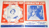 Lot 67 - Two Official souvenir programmes, for the...