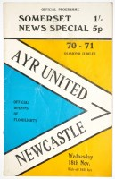 Lot 89 - Ayre United v Newcastle United, November 18th...