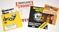 Lot 98 - Four programmes for the 1976 Anglo Scottish...