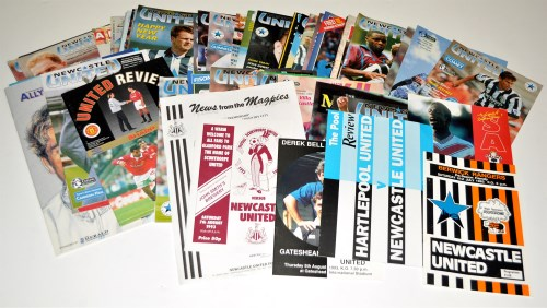 Lot 127-Newcastle United football programmes, for the...