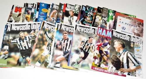 Lot 151 - Newcastle United football programmes, for the...