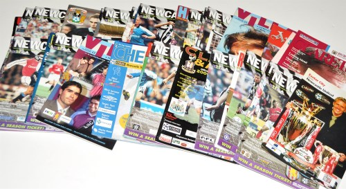 Lot 152-Newcastle United football programmes, for the...