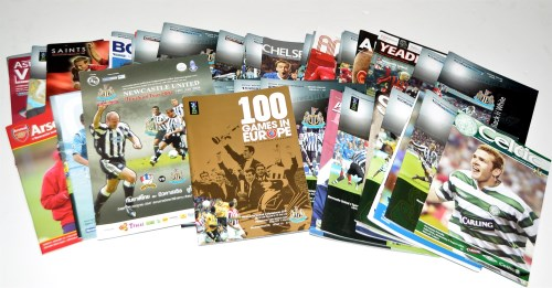Lot 156-Newcastle United football programmes, for the...