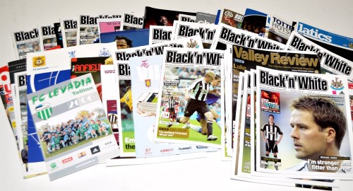 Lot 158 - Newcastle United football programmes, for the...