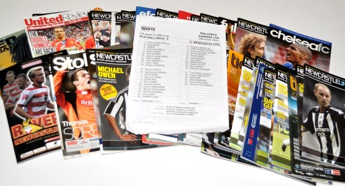 Lot 160-Newcastle United football programmes, for the...
