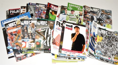 Lot 161-Newcastle United football programmes, for the...