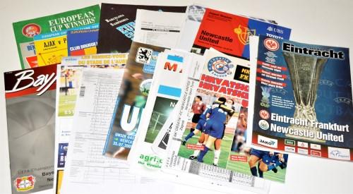 Lot 194 - A good quantity of match team sheets, copies...
