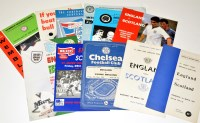 Lot 199-Football programmes, to include: England v...