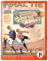 Lot 214-FA Cup Final programme, 1924 - Newcastle...