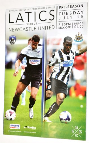 Lot 224 - Oldham Athletic v Newcastle United, July 15th...