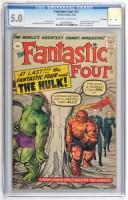Lot 1036 - The Fantastic Four No.12, slab-sealed, CGC...