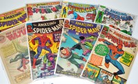 Lot 1050 - The Amazing Spider-Man Nos.38-40, 90, 95 and...