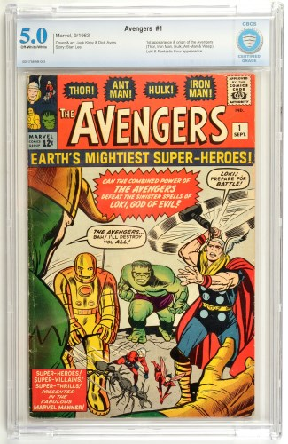 Lot 1052-The Avengers No.1 - first printing September 1963,...