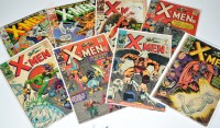 Lot 1074 - The X-Men Nos.18-22, 27, 65 and 66. (8)