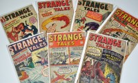 Lot 1077 - Strange Tales Nos.95, 102-104, and 106-108. (7)