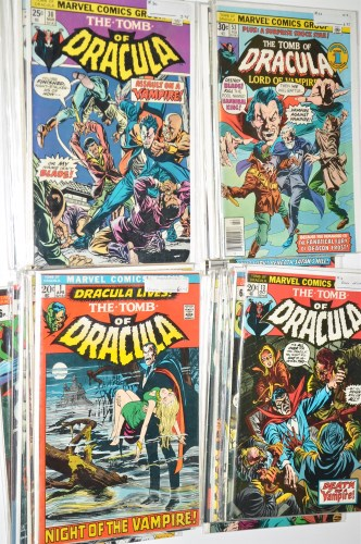 Lot 1256-The Tomb Of Dracula No.1 and sundry issues to...