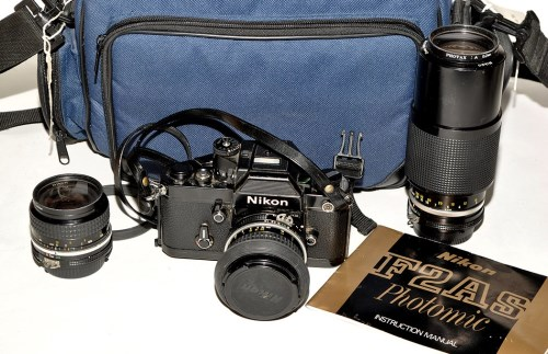 Lot 393-A Nikon F2 AS SLR camera (black); with Nikkor...