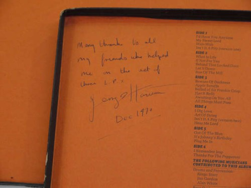 Lot 410-George Harrison: LP album ''All Things Must Pass''...