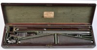 Lot 902 - A rare 40 bore cased air rifle, complete with...