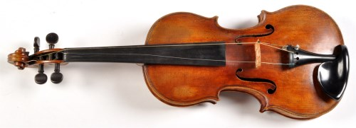 Lot 1088 - An early 20th Century violin, the two-piece...