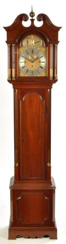 Lot 1162 - A handsome mahogany longcase clock, c.1900,...