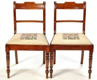 Lot 1337-A set of six Regency mahogany dining chairs, the...