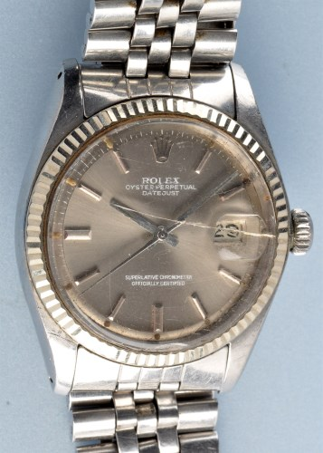Lot 928 - Rolex Oyster Perpetual Datejust: a gentleman's...