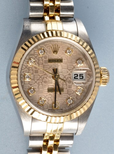 Lot 933-Rolex Datejust: a steel and gold wristwatch,...