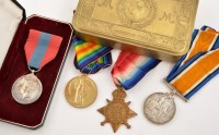 Lot 1046 - Three WWI General Service Medals, awarded to...