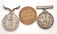 Lot 1051 - A WWI military medal, awarded to 750634...