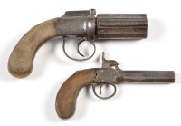 Lot 1060 - A mid 19th Century fifty bore five shot...