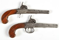 Lot 1071 - Two early 19th Century percussion pistols, by...