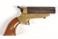 Lot 1074 - A C. Sharp's patent 1859 four barrel pepper...