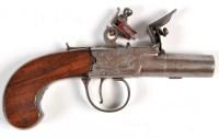 Lot 1076 - An 18th Century flintlock pistol, the short...