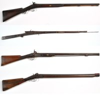 Lot 1096 - Four 19th Century guns, to include: a jezail;...