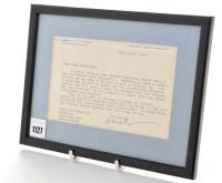 Lot 1127 - George Bernard Shaw (1856-1950); a typed...