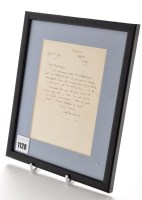 Lot 1128 - Siegfried Sassoon (1886-1967): a signed letter,...