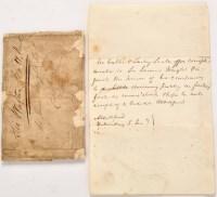 Lot 1133 - Sir Walter Scott interest: a letter from Sir...