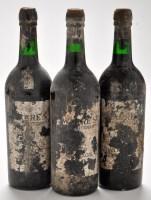 Lot 1143 - Three bottles of Ware's Vintage Port circa 1970.
