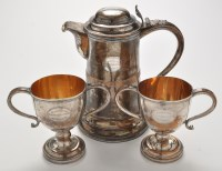 Lot 1147 - A pair of first half 19th Century two-handled...