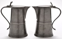 Lot 1148 - A pair of George III Scottish pewter wine...