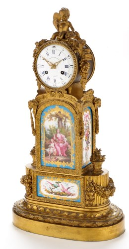Lot 1276-Julien Le Roy, Paris: an impressive French gilt...