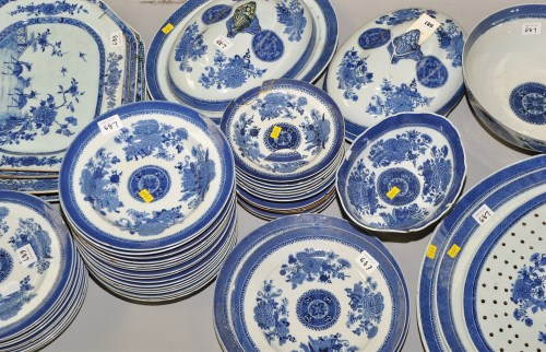 Lot 687-Composite Chinese 'Fitzhugh' pattern part dinner...