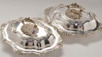 Lot 1027 - A pair of mid 19th Century Old Sheffield plate...